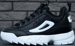 "Кроссовки Fila Disruptor II ""Black/White/Red"""