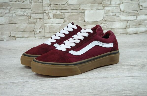 "купить Кеды Vans Old Skool Suede ""Red/White/Gum"" в Украине"