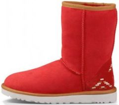 UGG Classic Short Rustic Weave Red