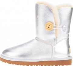 UGG Bailey Button Metallic Silver