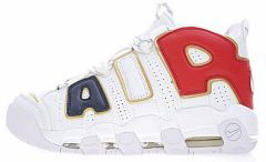 "Кроссовки Nike Air More Uptempo QS ""Navy/Blue/Red/Gold"""