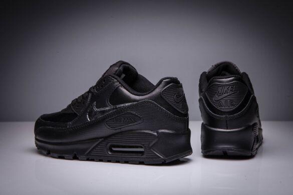 Кроссовки Nike Air Max 90 Кожаные Черные купить в TEMPOSHOP. fd5174ff8f3