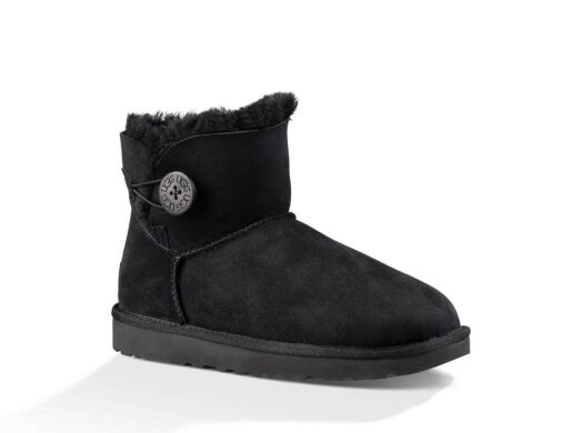 купить UGG Bailey Button Mini Black в Украине