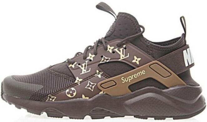 dc01617e купить Кроссовки Supreme x LV x Nike Air Huarache