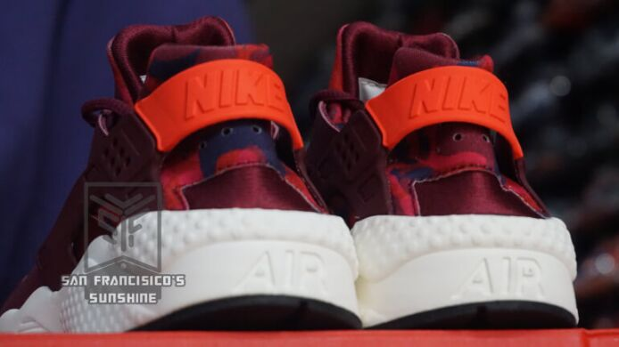 "купить Кроссовки Nike Air Huarache Run Print ""Deep Garnet & Bright Crimson"" в Украине"