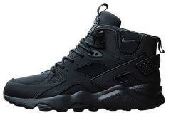 "Кросівки Nike Huarache High Top ""Triple Black"""