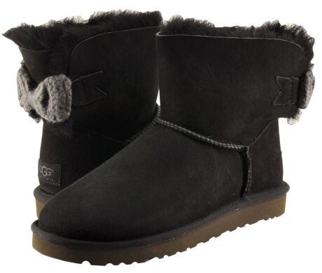 купить UGG Mini Bailey Knit Bow Black в Украине