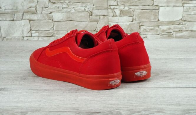 "купить Кеды Vans Old Skool ""Mono Red"" 2016 в Украине"