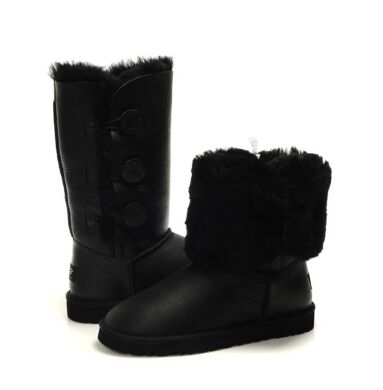 купить UGG Bailey Button Triplet Black Leather в Украине