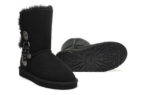 купить UGG Bailey Button Azalea Black в Украине