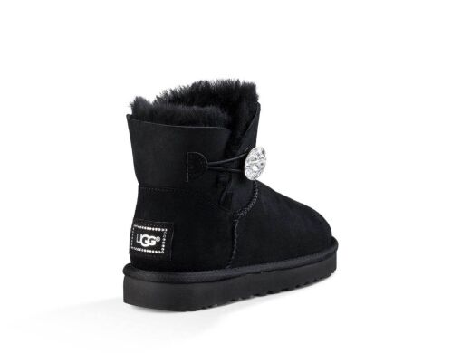 купить UGG Bailey Button Bling Mini Black в Украине
