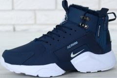 "Кросівки ACRONYM x Nike Air Huarache City Winter ""Navy Blue/White"" (С МЕХОМ)"