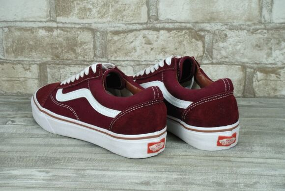 "купить Кеды Vans Old Skool Suede ""Bordo/White"" в Украине"