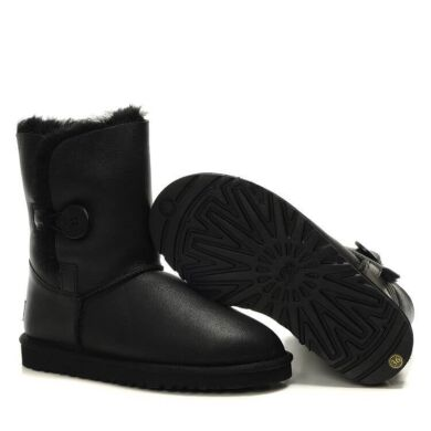 купить UGG Bailey Button Metallic Black в Украине