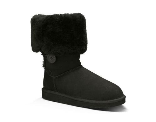 купить UGG Bailey Button Triplet Black в Украине