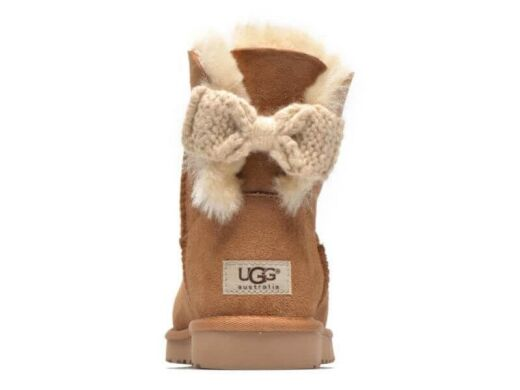 купить UGG Mini Bailey Knit Bow Chestnut в Украине