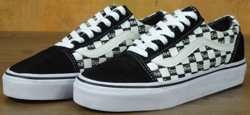 "купить Кеды Supreme x Vans Old Skool PRO Low ""Black/White Check"" в Украине"