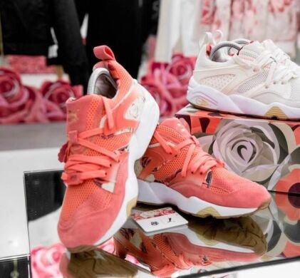 "купить Кроссовки Puma Blaze Of Glory x Careaux x Graphic ""Porcelain Rose"" в Украине"