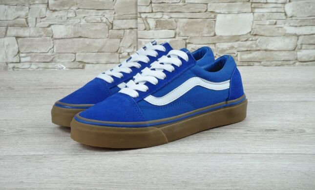 "купить Кеды Vans Old Skool Suede ""Blue/White/Gum"" в Украине"