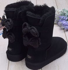 UGG Short Bailey Knit Bow Black