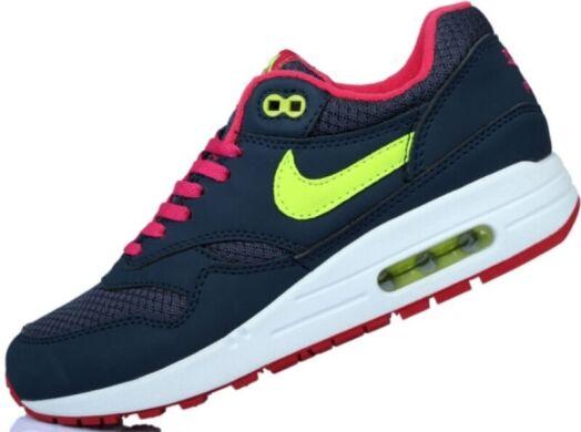 cc12bfa82ba4b8 Кросівки Nike Air Max 87 Dark Blue/Pink/Lime купити в TEMPOSHOP.